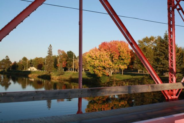 Photo Courtesy of D.B. Rankin - A landmark with a view, the Red Bridge provides a great view of the river and the fall colours!