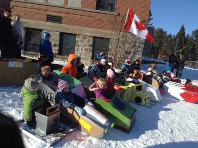 WinterFest Weekend in February brings out the kid in all at the annual Cardboard Sled Derby!